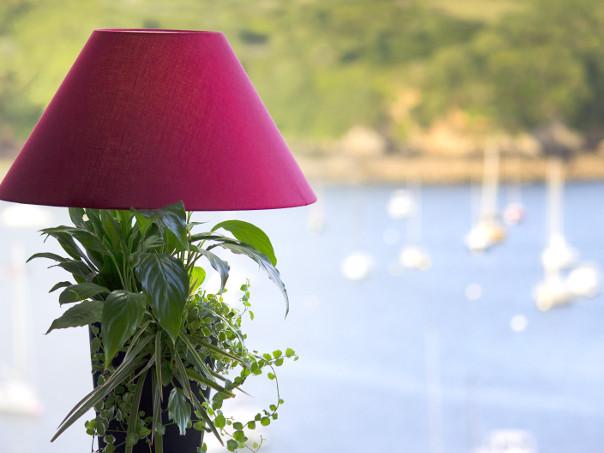 Lampe v g tal avec abat jour lumipouss - Lampe sans abat jour ...